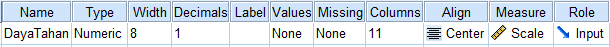Values SPSS Uji Binomial